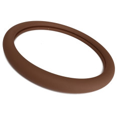 Purchase Leather Texture Car Auto Silicone Steering Wheel Glove Cover Soft Brown Online