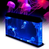Best Offer Led Light Glowing Deluxe Jellyfish Aquarium Fish Tank Pets Household Home Decor Intl