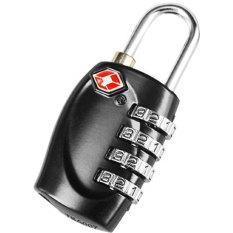 Leegoal 4 Rows Digital Tsa Combination Travel Luggage Lock Password Padlock,black - Intl By Leegoal.