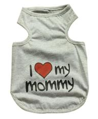 Leegoal Cute I Love Mommy Printed Small Pet Dog T Shirt Vest Puppy Apparel Clothes (grey,xxl) - Intl By Leegoal.