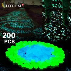 Leegoal Glow Pebbles Stone, 200 Pcs Glow In The Dark Garden Glow Rocks For Outdoor Walkways Yard Aquarium Gravel Fish Tank And Garden Driveway, Blue Green - Intl By Leegoal.