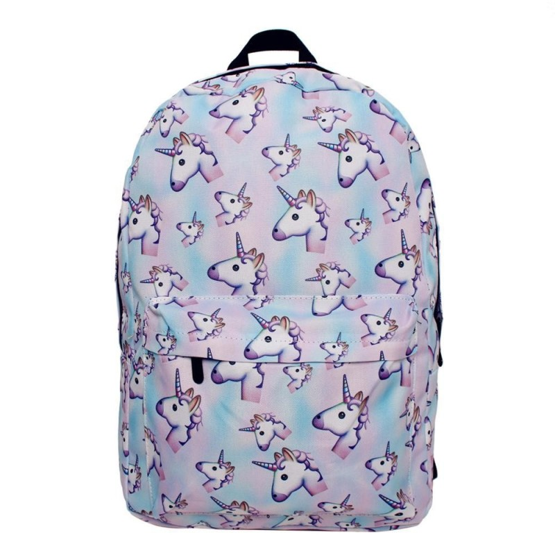 leegoal Traveling Girls 3D Unicorn Print Backpack Zipper School Bag - intl