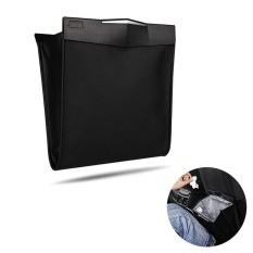 Leegoal Universal Car Seat Back Leather Garbage Bag Magnetic Folding Hanging Trash Rubbish Box Bag Holder With Plastic Bag - Intl By Leegoal.