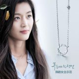 Legend Of The Blue Sea Gianna Jun(전지현)The Same Paragraph 925South Korea Silver Full Of Circular Clavicle Chain Pendant Intl Compare Prices