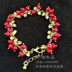 Lily Of The Valley Cranberry Bracelet Earrings Set Necklace In Stock