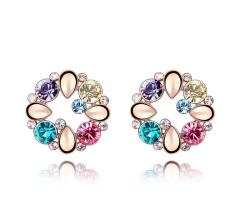 Price Little Love Swarovski Crystal Earrings Gemstone Gold Plated Earrings Intl Little Love Online