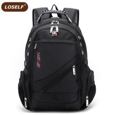 Get Cheap Loself Waterproof Oxford 16 Inch Laptop Backpack Large Capacity Business Backpack Multifunction Travel Bag Fashion Sch**L Bag Intl