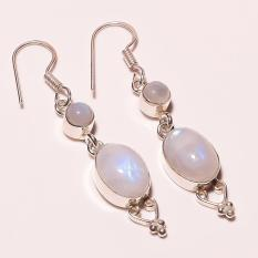 Price Comparison For Lovely Jewelry 925 Sterling Silver Plated Moonstone Earring 2 25 Inch