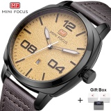 Top 10 Loveu Store High Quality Luxury Leather Business Men S Quartz Wristwatch Yellow Intl