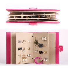 Lt365 Pu Leather Book Design 42 Pairs Earrings Ear Studs Jewellry Display Holder Organizer Rosy Intl Lt365 Discount