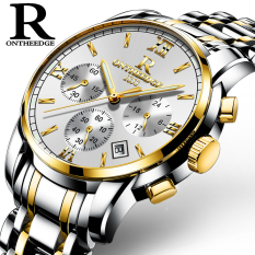 Where To Shop For Men S Waterproof Luminous Ultra Thin Mechanical Watch With Steel Bracelet