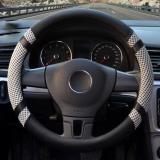 Recent Luowan Car Steering Wheel Covers Diameter 14 Inch 35 5 36Cm Pu Leather And Ice Silk For Seasons Gray S Intl
