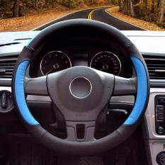 Buy Luowan Car Steering Wheel Covers Diameter 14 Inch 35 5 36Cm Pu Leather For Full Seasons Black And Blue S Intl China