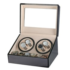 Price Luxury Automatic 4 6 Quad Watch Winder Rotation Case Display Jewelry Box Storage Intl Not Specified Online