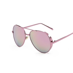 Buying Luxury Brand Design Aviation Sunglasses Mirror Vintage Retro Sunglasses For Women Female Lady Sunglasses Pink Pink Intl