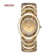 Luxury Brandquartz Watch Women Gold Steel Bracelet Watch 30M Waterproof Rhinestone Ladies Dress Watch Relogio Feminino Intl Coupon