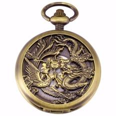 Who Sells Luxury Hollow Dragon Case Hunter Roman Steampunk Skeleton Craft Mechanical Pocket Watch Jewel Chain Hand Winding Clock Wpk230 Intl