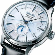 Made In Japan Brand New 100 Authentic Seiko Presage Automatic Mens Dress Watch Power Reserve Feature With Sky Blue Sunray Dial On Gloss Black Strap Ssa343J For Sale Online