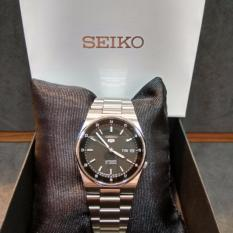 Made In Japan Brand New Seiko 5 Mens Automatic Casual Watch In Black Dial Rail Way Time Snxm19J Sale