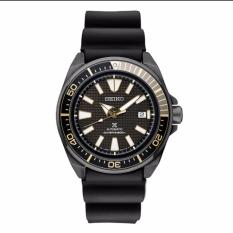 * MADE IN JAPAN * BRAND NEW SEIKO PROSPEX AUTOMATIC MENS DIVER WATCH BLACK GOLD SAMURAI SRPB55J