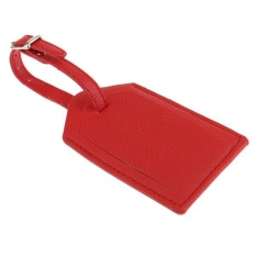 Magideal 1 Piece Pu Leather Luggage Tag Travel Suitcase Id Label Security Tag Red - Intl By Magideal.