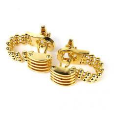 Magideal Men S Gold Tone Wrap Around Chain Cufflinks Cuff Links Suit Shirt Wedding Intl Price Comparison