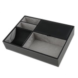 Low Price Magideal Multifunctional Exquisite Black Pu Leather Jewelry Storage Box For Unisex Intl