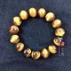Wholesale Male And Female Tiger Eye Stone Natural Crystal Bracelet