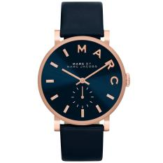 Cheap Marc By Marc Jacobs Baker Navy Dial Navy Leather Ladies Watch Mbm1329