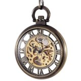 Buy Mechanical Hand Wind Mens Brass Big Skeleton Steampunk Pocket Watch Open Face Fob Intl Cheap On China