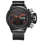 Where To Buy Megir 2002 Male Quartz Watch 30M Water Resistance Silicone Band Black