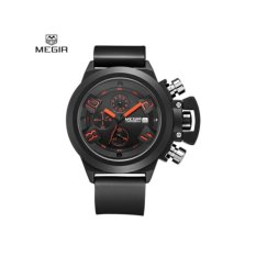 Megir 2002 Water Resistant Male Quartz Watch Date Function With Silicone Band Working Sub Dials Intl Free Shipping