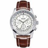 Discount Megir 2009 Men Luxury Business Chronograph Calendar Leather Quartz Watch Megir