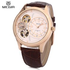 Buy Megir 2017G Men Quartz Watch 30M Water Resistance Leather Band Wristwatch Intl Cheap China