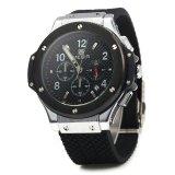 Megir 3002G Male Quartz Watch Silicone Band Luminous Pointer Black Online
