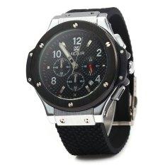 Megir 3002G Male Quartz Watch Silicone Band Luminous Pointer Black Cheap