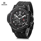 Where Can I Buy Megir 3002G Male Quartz Watch With Date Function Silicone Band Luminous Pointer 30M Water Resistance Intl