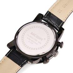 Sale Megir 3008G Men Chronograph Calendar 6 Hands Leather Quartz Watch Export Intl On China