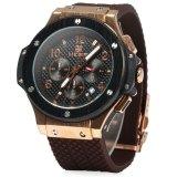 Megir Date Function 30M Water Resistant Men Quartz Watch With Silicone Band For Sale Online