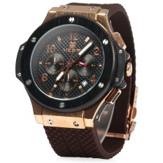 Megir Date Function 30M Water Resistant Men Quartz Watch With Silicone Band Shopping