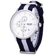 Best Offer Megir M2011 Male Quartz Watch With Three Working Sub Dials Date Function Sport Wristwatch Intl