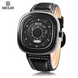 Review Megir Ml2027 Male Quartz Watch Square Case Calendar Men Wristwatch Intl On Singapore