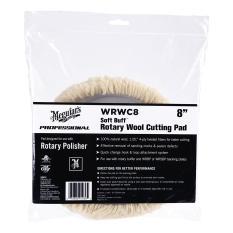 "Meguiar's (WRWC8) 8"" Soft Buff Rotary Wool Cutting Pad"