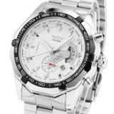 Price Men Automatic Mechanical Date Silver Steel Band Business Wrist Watch Pmw104 Intl Winner Original