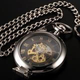 Men Classic Magnifier Skeleton Mechanical Gift Business Fashion Pocket Watch Wpk023 Intl Cheap