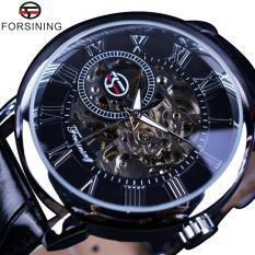 How To Buy Men Luxury Brand Erkek Skeleton Watch Roman Number Black Dial Designer Black