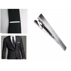 b39c4dcb3e25 Men Metal Silver Tone Simple Practical Necktie Tie Bar Clasp Clip Decor 6CM  Gift - intl