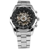 Compare Prices For Men Skeleton Stainless Steel Automatic Mechanical Business Fashion Wrist Watch Pmw101 Intl