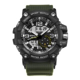 How To Buy Men Watch Waterproof Military Digital Analog Quartz For Sanda Color 1 Intl