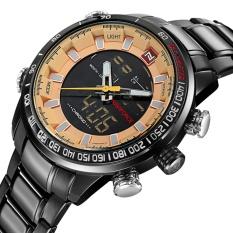Men S Naviforce Luxury Brand Sport Watches Men Dual Display Led Digital Waterproof Full Steel Quartz Watch Man Clock Intl In Stock
